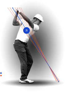 Bryson DeChambeau showing the difference between One Length and Variable Length irons.