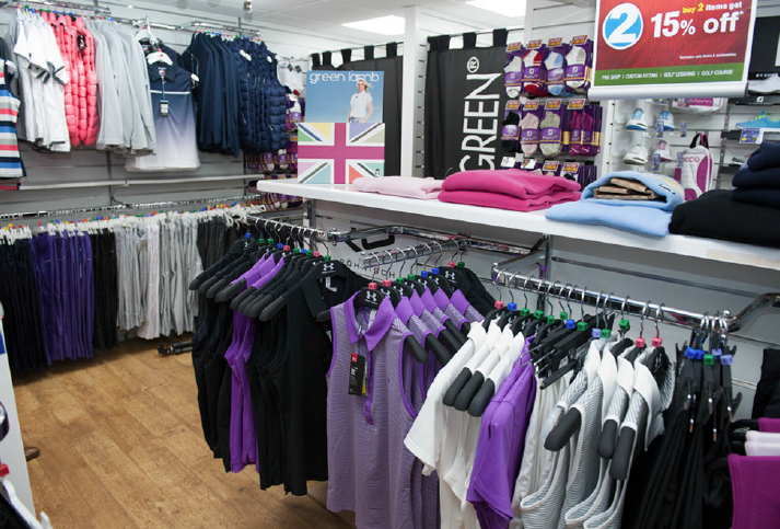 A glimpse of the expansive Lady Golf Store
