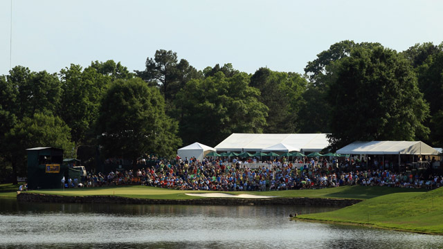 The signature 17th hole at Quail Hollow