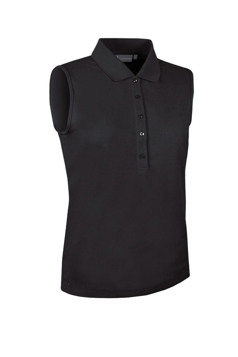 82942c46 Ladies Glenmuir Jenna Sleeveless Polo - Black - Duncan Lambert Golf Shop